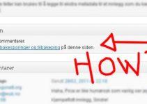 Hvordan fjerne muligheten for å kommentere på bloggen