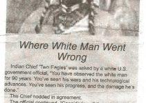 Hvor den hvite mann trådte feil